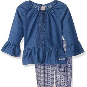 Lucky Brand Navy Tunic Set 18 Months
